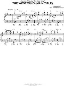 theme music west wing quot the west wing main title quot from the west wing sheet