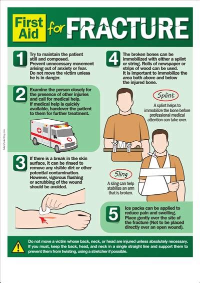 health and safety poster first aid for fracture safety poster shop