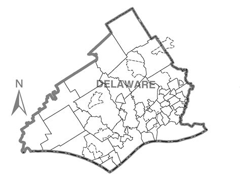 Delaware County Pa Records Map Of Delaware And Pennsylvania Bnhspine