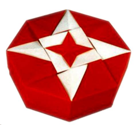 Origami Octagon Box - octagonal box origami