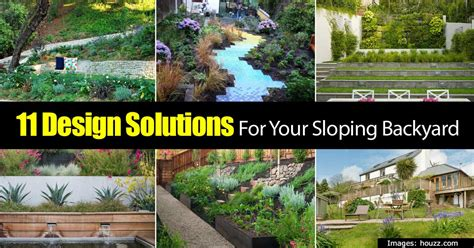 sloped backyard solutions 11 design solutions for your sloping backyard