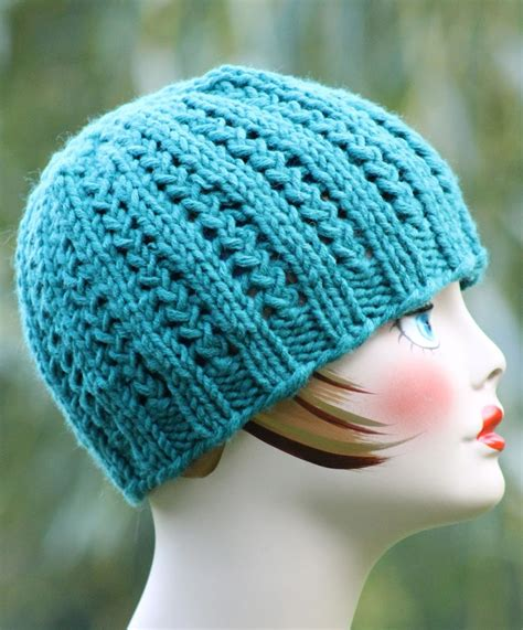 easy hat knitting patterns free knitting pattern for 2 row repeat rickrack braid hat