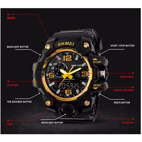 Jam Tangan Jam Tangan Pria Casual Skmei 2208 Original Leather jual jam tangan skmei casual pria water