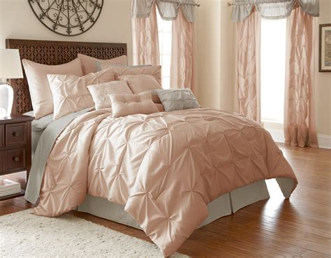 blush comforter 24 piece comforter set ella blush by pacific coast