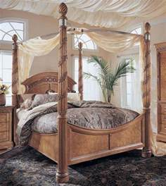 Wood Canopy Bed With Drapes King Size Wynwood Canopy Bed Canopy Beds