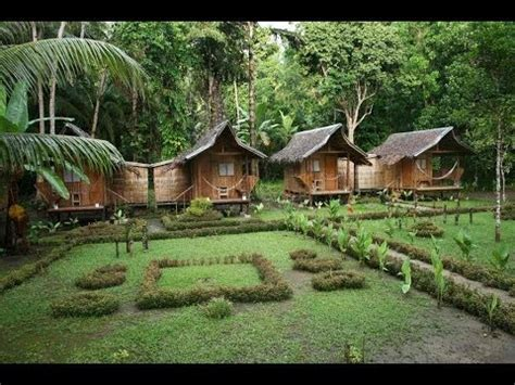 Small Villages In Usa nipa hut village at loboc river philippines youtube
