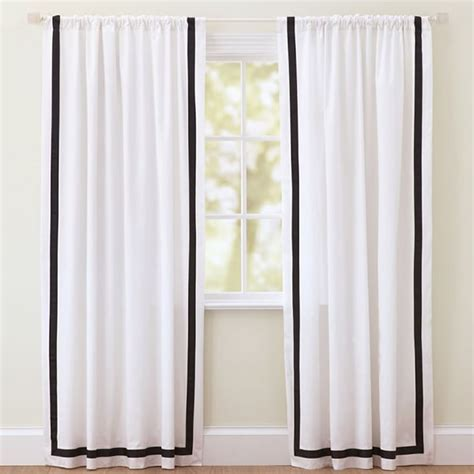 White Curtains With Blue Trim My Favorite Black And White Curtains Cuckoo4design