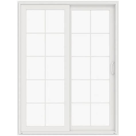 96 Patio Door Jeld Wen 72 In X 96 In V 4500 White Prehung Left Sliding 10 Lite Vinyl Patio Door