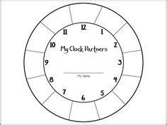 printable clock partners student template for clock calendar template 2016