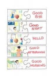 english worksheet greetings puzzle