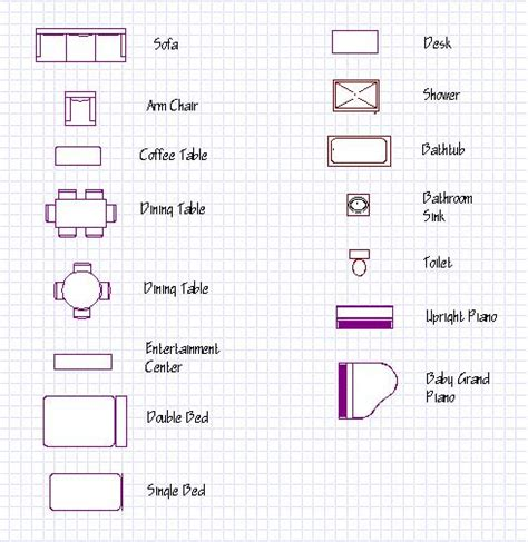 furniture icons for floor plans diagram floor plan furniture icons diagram free engine