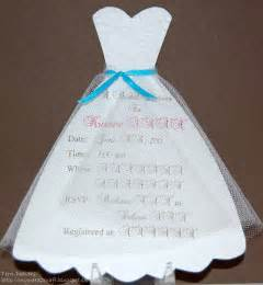 Wedding Dress Template by Diy Bridal Shower Invitations Diy Bridal Shower