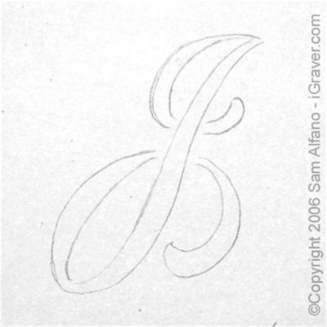 Letter J Drawing by Sam Alfano S Tips Tricks For Engravers