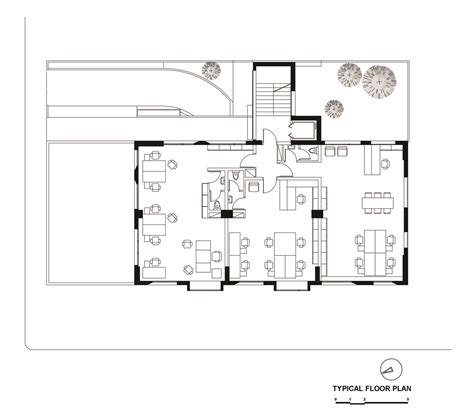 typical office floor plan offices and stores building in athens potiropoulos d l architects archdaily