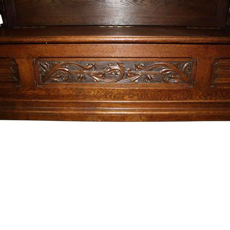 bookcase with bench gothic revival bookcase with bench and storage circa 1875 for sale at 1stdibs