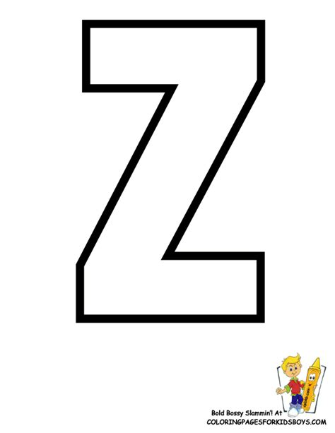 Letter Z Zebra Print Coloring Pages Z Coloring Page