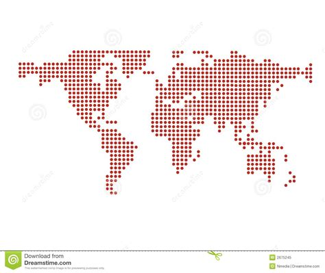 world dot map world map in dots vector stock vector image of dots