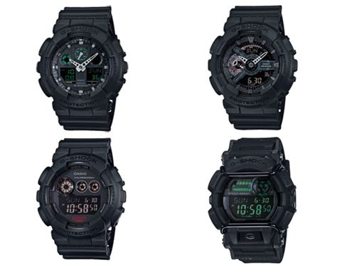 Casio G Shock Black casio g shock quot black quot series freshness mag