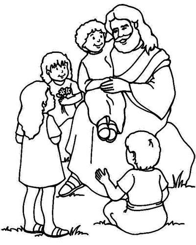 jesus loves the little children coloring page bible