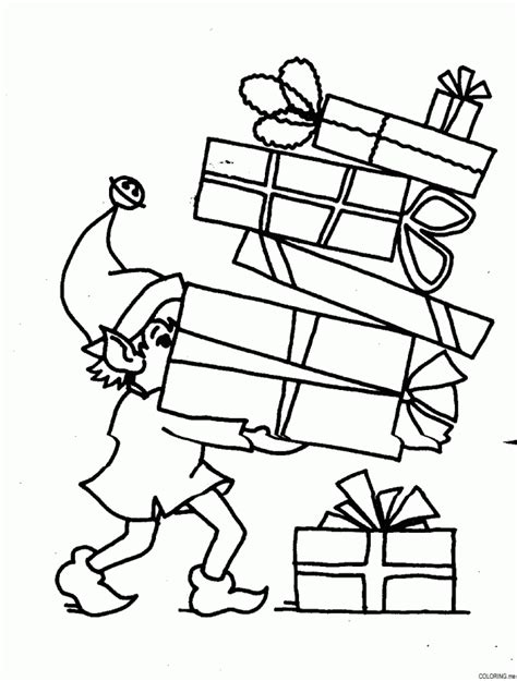 coloring pages of christmas gifts christmas gift pictures coloring home
