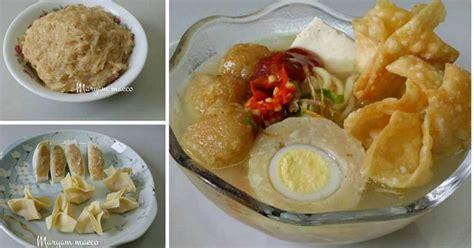 Tahu Isi Bakso Ayam Kukus Kw 1 resep bakso ayam malang lengkap dgn bakso tahu dan pangsit