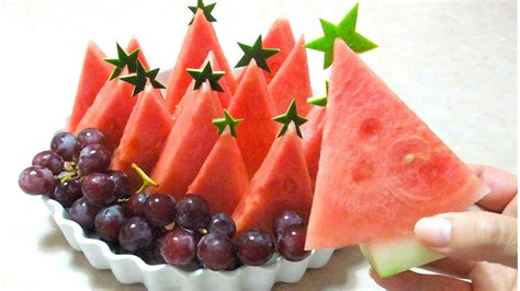 how to make christmas fruits how to make watermelon fruit platter watermelon tree