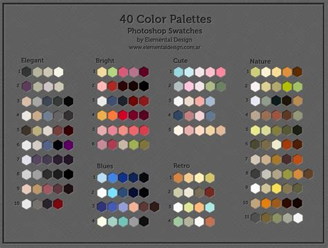 40 color swatches by ed elementaldesign on deviantart