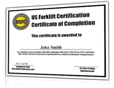 forklift certification 38 earn a fork lift operator s