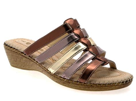comfort wedge womens comfort low wedges strappy sandals mules ladies