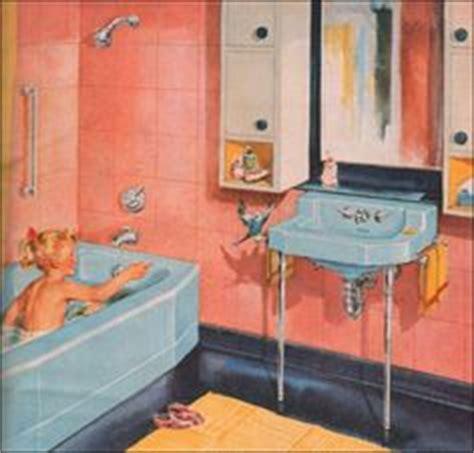 blue and coral bathroom 1950s bathrooms on pinterest 1950s bathroom pink