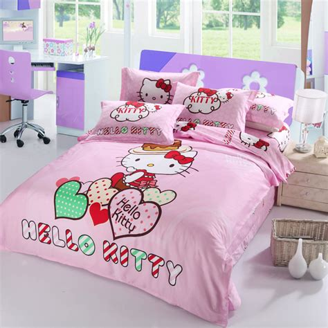 sweetheart 4pcs kitty bedding set queen king full size