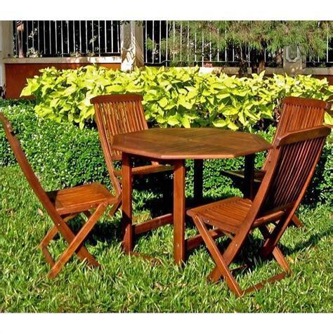 Wooden Patio Dining Sets 5 Wood Patio Dining Set Vf 4130