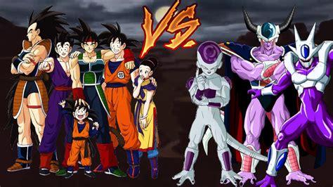 imagenes de la familia de freezer familia de goku vs familia de freezer dragon ball z