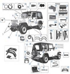 Part For Jeep Yj Wrangler 1987 1995 Replacement Parts A And