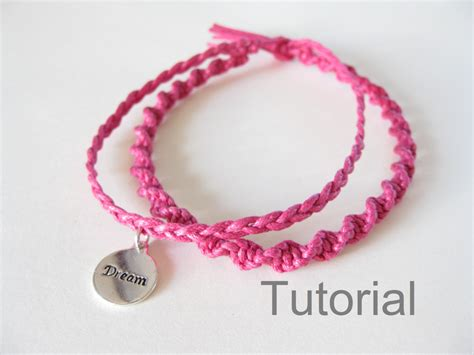Knotted bracelet macrame tutorial pattern pdf two in one