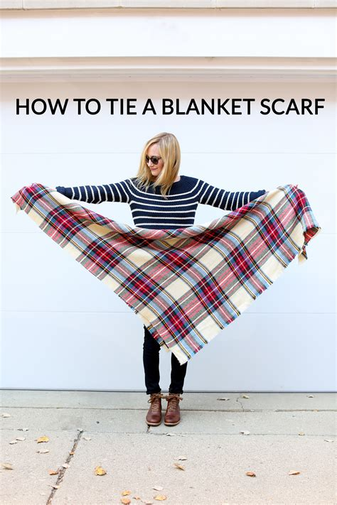 How To Tie Blankets by How To Tie A Blanket Scarf