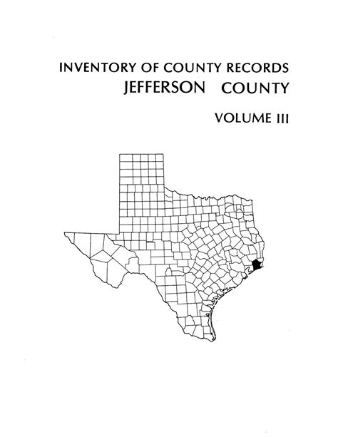 inventory of county records jefferson county courthouse
