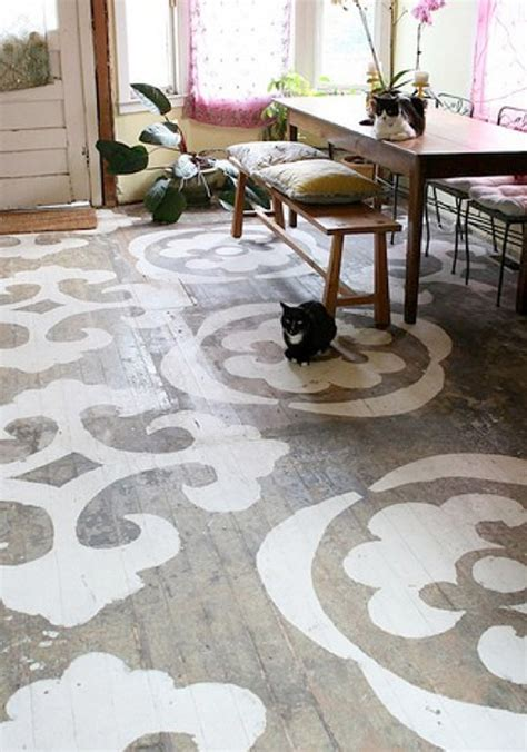 Painted Wood Floor Ideas Top 10 Stencil And Painted Rug Ideas For Wood Floors