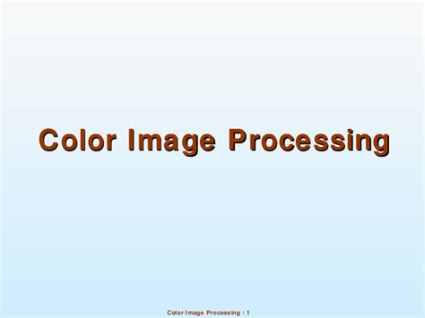 color processing 10 color image processing