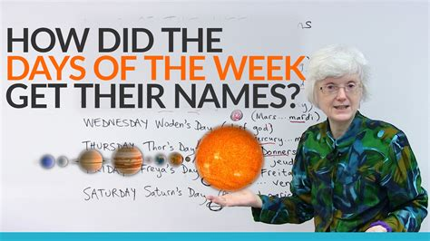 where do the names of the days of the week come from 183 engvid