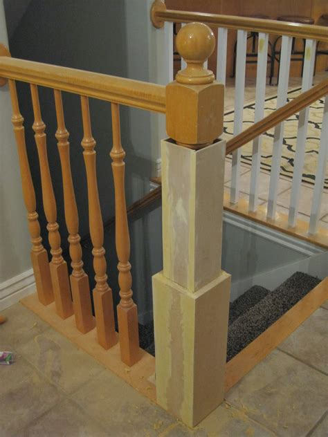 banister post caps remodelaholic stair banister renovation using existing