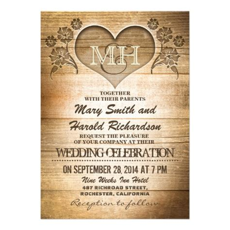 Wedding Invitations Country by Rustic Wood Country Wedding Invitations 5 Quot X 7 Quot Invitation