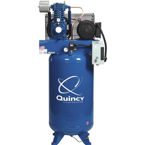 quincy qp pressure lubricated recip air compressor 7 5hp 230v 1 phase 80 gal v ebay
