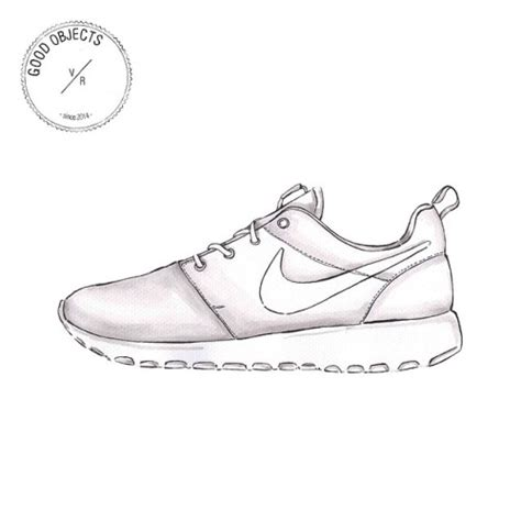 running shoe drawing shoe nike sign pencil and in color shoe nike