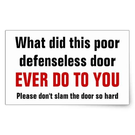 Don T Slam The Door by Don T Slam The Door So Rectangular Sticker