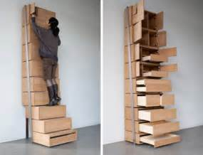 staircase storage vertical shelving unit is its own