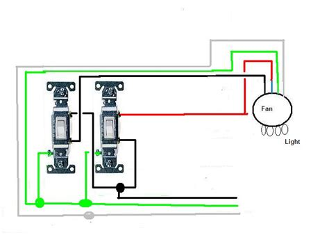 wiring diagram 2 switches ceiling fan light kit ceiling