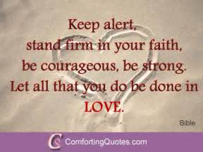 Quote about keeping faith keep alert stand firm in your faith be