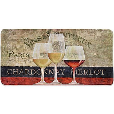 Wine Kitchen Mat by Home Dynamix Relaxed Chef Wine Kitchen Floor Mat