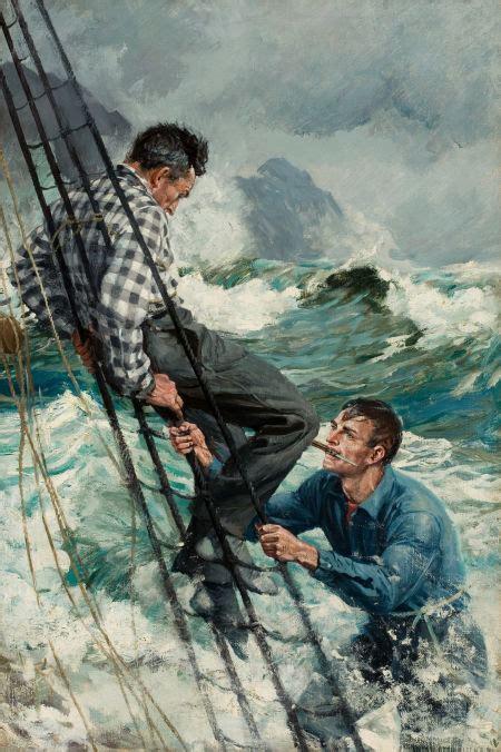 the open boat suspense man in rigging sold by anton otto fischer american